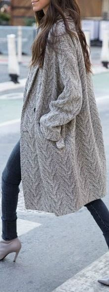 Hounds-tooth sweater.