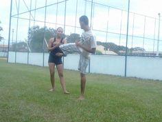 Mariane Frota da Silva treinando com Guilherme Ventura Soares