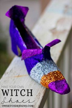 Make witch shoes for halloween!
