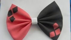 Harley Quinn Inspired Classic Hair Bow by PigtailsnCurls on Etsy, $6.25