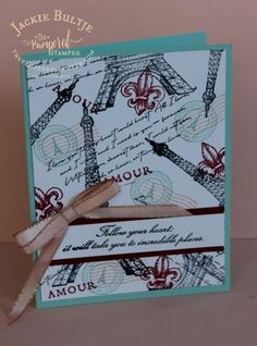 Upcoming Parisian Blossoms suite in the Occasions catalog. Decor Inspiration, Card Making Inspiration, Making Ideas, Tour Eiffel, Paris Cards, Diy Crafts For Girls, Stamping Up Cards, Card Maker, Card Sketches