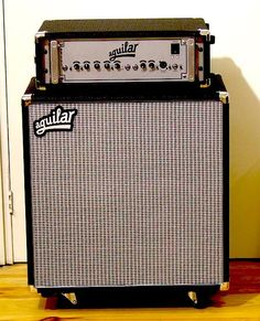 DB 751 Aguilar with 212 cabinet. Main bassamp on stage. A new addition to our gear!