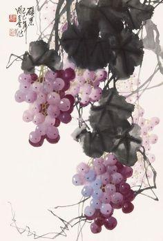 китайская живопись виноград - Поиск в Google