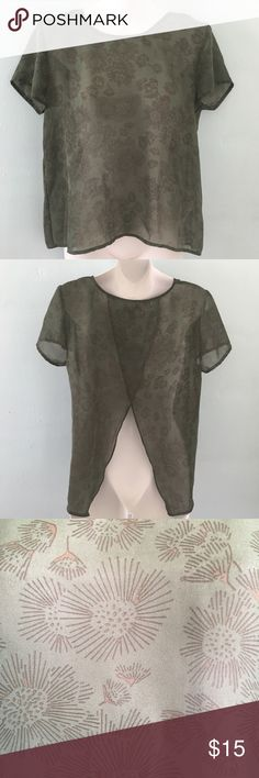 Gap Sheer Top Size S Gap Sheer Top Size S. Feel free to ask any questions. :) GAP Tops Blouses