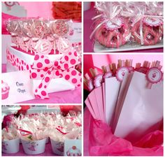 Party guests filled their own goodie bags with sweets from the table to take home.