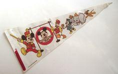 Mickey Mouse Club Pennant, Vintage Printed Felt Souvenir Flag by planetalissa on Etsy