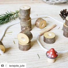 """Our 'first lacing activity' is quickly becoming one of our bestsellers.  This beautiful set is made by hand by a Latvian montessori family. The sets sell very quickly and when I reordered they informed me """"We'll see if we can find enough suitable branches in the forest to make more."""" That's something you won't hear from a mass production toy factory! So charming... If you want to order one for the holidays, please don't wait too long. They are limited in number.  You can find them here in…"""