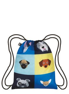 LOQI STEPHEN CHEETHAM Dogs Backpack Front Hátizsákok 2d722c252e