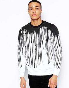 Image 1 ofLove Moschino Sweatshirt with Drips Print