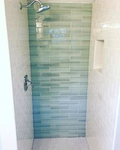 Bathroom Tile Ideas – Get inspired with bathroom tile designs and 2018 trends. V… Bathroom Tile Ideas – Get inspired with bathroom tile designs and 2018 trends. View our image gallery to get ideas for bathroom floors, walls, tubs, and shower stalls. Bathroom Tile Designs, Bathroom Floor Tiles, Bathroom Ideas, Glass Tile Bathroom, Bathroom Showers, Glass Tiles, Bathroom Canvas, Shower Ideas, Bathroom Storage