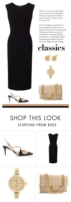 """Classics"" by patricia-dimmick on Polyvore featuring Jimmy Choo, Roland Mouret, Shinola, Chanel and WardrobeStaples"