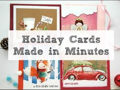 Ideas for Quick Holiday Cards | Christmas greeting cards - YouTube