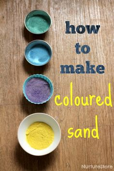 How to make coloured sand for sensory play and kids art activities