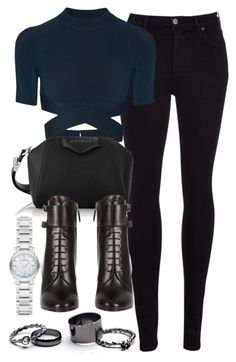 """Style #9704"" by vany-alvarado ❤ liked on Polyvore featuring Citizens of Humanity, T By Alexander Wang, Givenchy, Prada, Free People, Burberry, women's clothing, women's fashion, women and female"