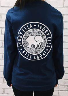 7ddb1a6a5 Elephant Ivory Ella Print Pockets Cute Casual Sweatshirt