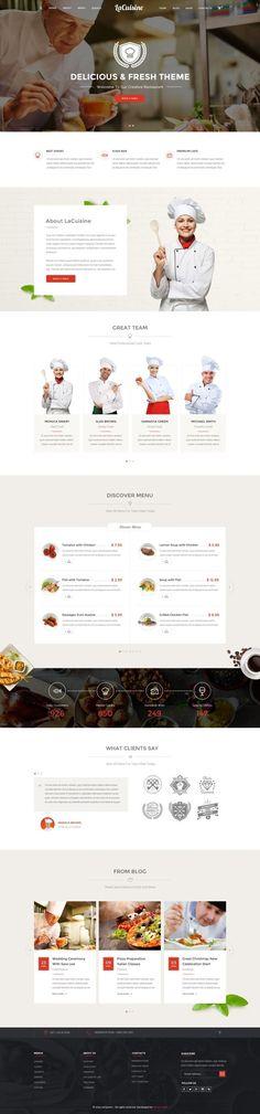 LaCuisine – Restaurant / Cafe in Web design