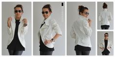 White woman jacket /White Woman jacket with by ClothesByLockerRoom