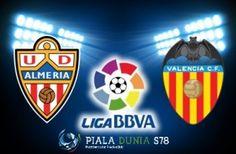 Prediksi Skor Bola Almeria vs Valencia 23 Mei 2015 | Prediksi Almeria vs Valencia | Prediksi Almeria vs Valencia Liga Primera Division | Prediksi Almeria vs Valencia  23 Mei 2015 | Agen Bola Online | Agen Tangkas – Pada lanjutan pertandingan di laga Liga Primera Division yang memasuki pekan ke – 38 ini akan mempertemukan 2 tim yaitu antara Almeria berhadapan dengan Valencia. Laga antara Almeria vs Valencia kali ini akan dilangsungkan di markas Almeria yakni di Estadiode los Juegos…