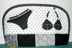 lingerie quilt | porta lingerie necessaire tecido de algodão,manta acrílica,forro de ...
