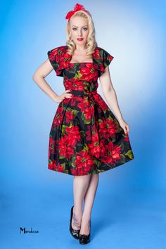 Vintage party dress with shrug and pleated skirt