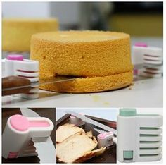 1 Pair DIY Kitchen Tool Cake Cutter Leveler 5 Layer Slicer Cutting Fixator New Click: http://amazingpennyauctions.blogspot.com/