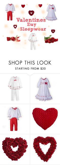 """Children's Valentine's Sleepwear"" by woodensoldier on Polyvore featuring Pier 1 Imports"