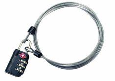 Eagle Creek Schloss 3-dial TSA Lock & Cable, graphite, 4 x 3 x 1, EC-41028013