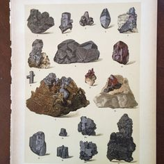 Jahrgang 1920 deutsche Mineral Chromolitho