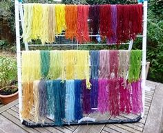 Natural dyes: weld, woad, madder, oak galls, lichen and over-dyes. Nice blog.