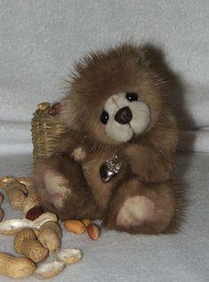 NitKa's Bears - Peanut a little mink fur bear