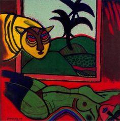 Corneille   Tiger in Love • [CoBrA] art movement