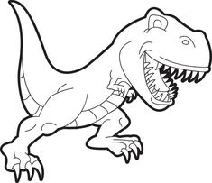 T Rex Coloring Pages coloring pages Pinterest