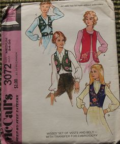 1970s Vintage Sewing Pattern McCall's 3072 by GreyDogVintage, $5.00