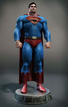 old fan art of Supermansculpted in Zbrush and rendered in Mental Ray Marvel Dc, Comic Books Art, Comic Art, Superman 3d, Superman Stuff, Dc Comics, Univers Dc, Poses References, Man Of Steel