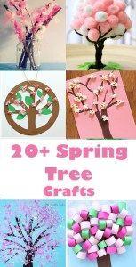 spring tree crafts - 20 plus kids crafts - acraftylife.com #crafts #kidscraft #craftsforkids