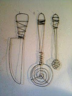 déco mural en fil de fer http://leslumieresdepaupiette.blogspot.fr/