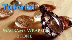 Tutorial how to make a macrame knot wraped lodolite quartz