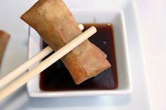 Pequerecetas - Rollitos de primavera con salsa agridulce
