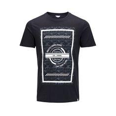Slim fit black graphic camo tshirt | JACK & JONES