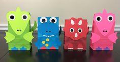 Conjuntos de 4 dinosaurios Favor bolsas decoración del