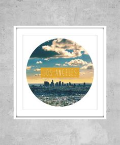 Los Angeles Print  usa america city world travel by AugustPrints