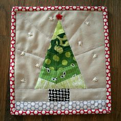 scrappy tree mug rug | Flickr - Photo Sharing!