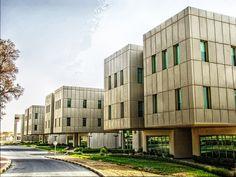 The University of Bahrain's Brutalist architecture.