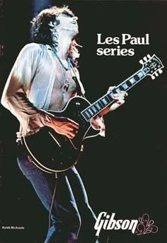 The front cover features Keith Richards of the Rolling Stones playing a Les Paul Custom Gibson Les Paul, Rock And Roll Bands, Rock N Roll, Les Paul Black Beauty, Rolling Stones Keith Richards, Jack Bruce, Billy Preston, Rollin Stones, Les Paul Guitars