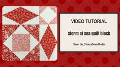 Video tutorial: Quick and easy Storm at sea quilt block