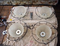 Hanging solar lights using glass chandelier bowls and dollar store items! - Hanging solar lights using glass chandelier bowls and dollar store items! Solar Light Chandelier, Glass Chandelier, Chandeliers, Solar Light Crafts, Diy Solar, Garden Yard Ideas, Diy Garden Decor, Garden Pots, Solar Yard Lights