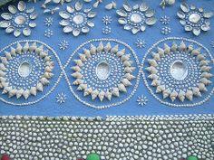 Detail from Alfred Pedersen's Shell House in Denmark