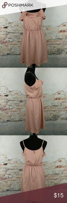 Lauren Conrad Sz 6 Pink Flounce Gold Studded Dress Lauren Conrad Womens Sun Dress Size 6 Peach Pink Flounce Gold Studded Sleeveless Lauren Conrad Dresses