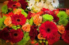 Beautiful fall colored flowers