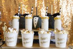 Black Tie, Black And Gold Oscar Party Party Ideas | Photo 10 of 16